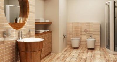 Woven-bamboo-floor-for-natural-bathroom-flooring